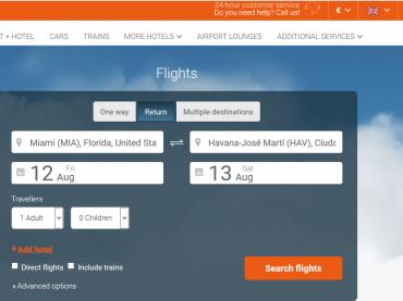 Destinia, primera agencia online en ofrecer vuelos directos Miami-La Habana