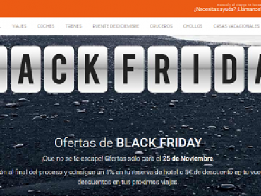 Sea cual sea tu destino, llegan las ofertas 'Black Friday'