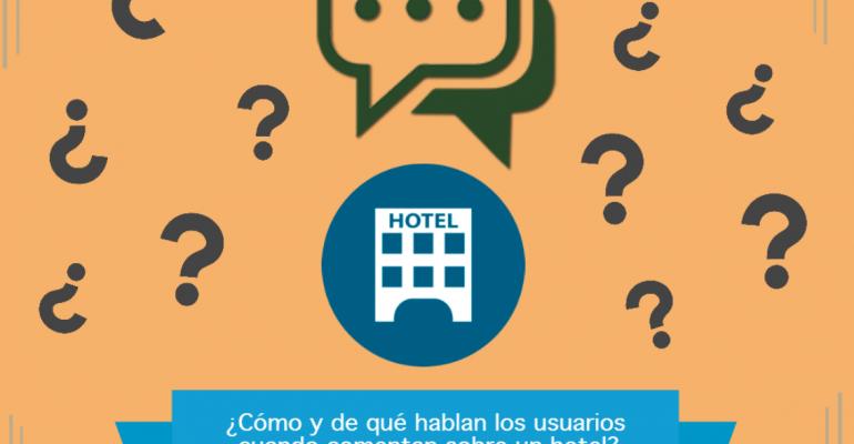 ¿Cómo y de qué hablan los usuarios cuando comentan sobre un hotel?