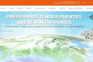En Destinia decimos #NoAlMuro: campaña para incentivar los viajes entre México y Estados Unidos