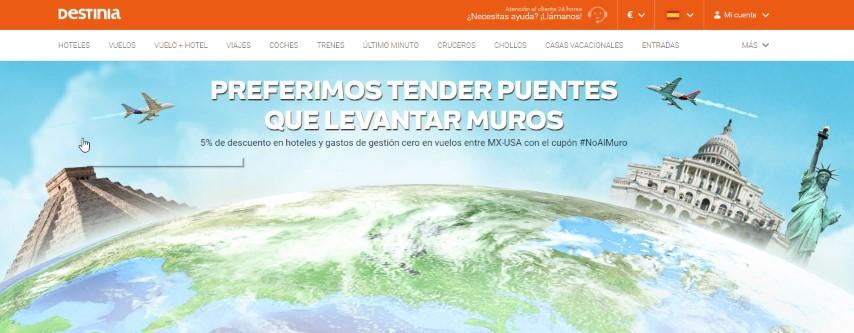 Destinia-incentiva-viajes-mexico-en-contra-muro-trump
