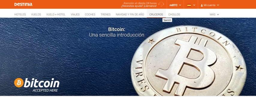 Destinia-permite-pagos-en-bitcoin